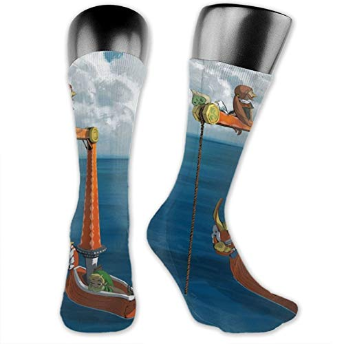 The Great Sea Wind Waker Unisex Fun Novelty Mid-Calf Boot Socks Fashion Breathable Dress Crew Socks