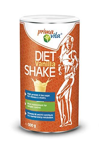 Primavita - Mahlzeitenersatz Diät-Shake, Vanille, 500g (10 Portionen)