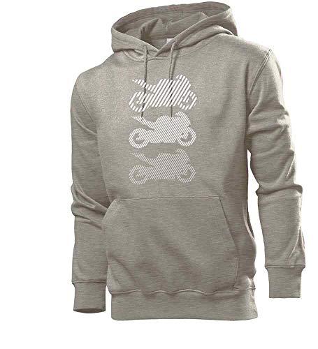 Shirt84.de - Sudadera con capucha para hombre, color blanco gris L