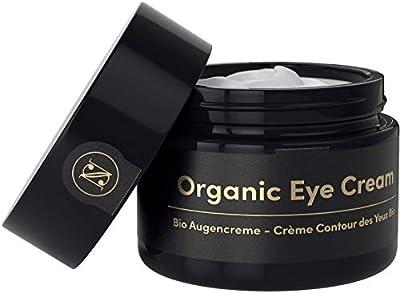 Lifting ORGANIC Eye Cream for Dark Circles and Puffy Eyes 30ml – Anti Wrinkle Face Cream with Argan Oil, Aloe Vera, Hyaluronic Acid + Vitamin E – Satin Naturel Vegan Skin Care Made in Germany from Del Decus Enterprises Ltd