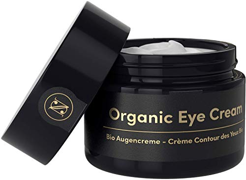 Crème Antirides Contour des Yeux BIO 30ml - Soin Anti Cernes Yeux a l'Huile d'Argan, l'Aloe Vera, l'Acide Hyaluronique et la Vitamine E - Soin Visage Femme Fabriqué en Allemagne