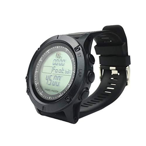 LIOOBO fußball Schiedsrichter Uhr multifunktions abs schwarz Chronograph stoppuhr Countdown Timer für fußball Sport (schwarz)