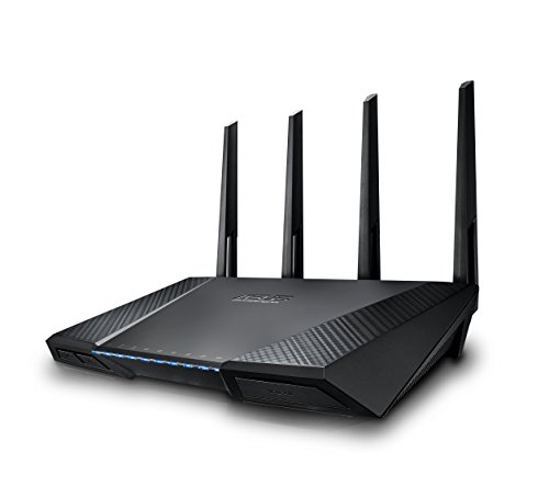 ASUS RT-AC87U AC2400 Dual Band Gigabit WiFi Router, Aiprotection Lifetime Security by Trend Micro, Adaptive Qos, Parental Control