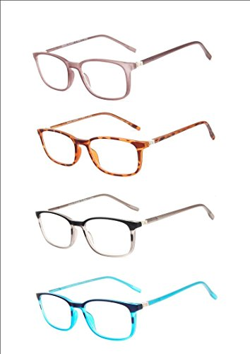 Atlantic Eyewear AE0054 Stylish Brown and White Reading Glasses Supplied with Matching Soft Pouch +3.00