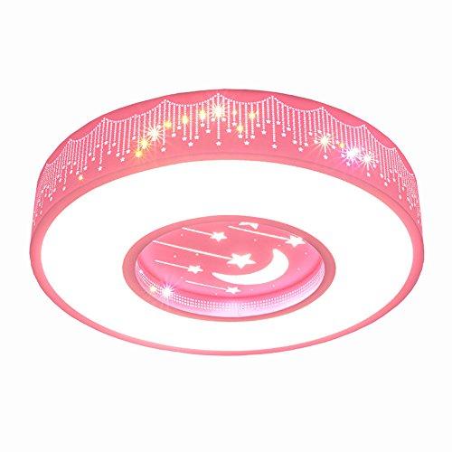 LYXG Kinder im Zimmer der Mädchen Schlafzimmer Licht LED Deckenleuchte Prinzessin warme Zimmer Sterne romantische runden Leuchten, 50cm