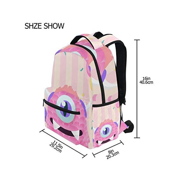 41IMz8zywQL. SS600  - Mochila Escolar Rosa Monster Student Mochila Grande para niñas niños Escuela Primaria Bolsa de Hombro Bolsa de Libros