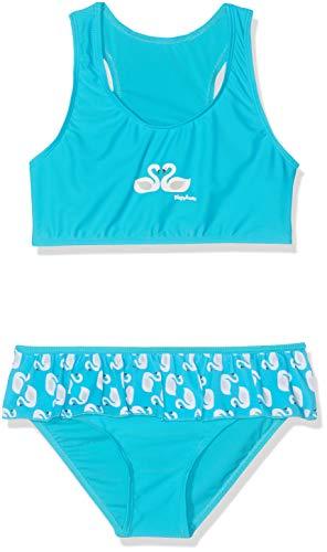 Playshoes Mädchen UV-Schutz Bikini Schwäne Badebekleidungsset, Türkis (Türkis 15), (Herstellergröße: 110/116)