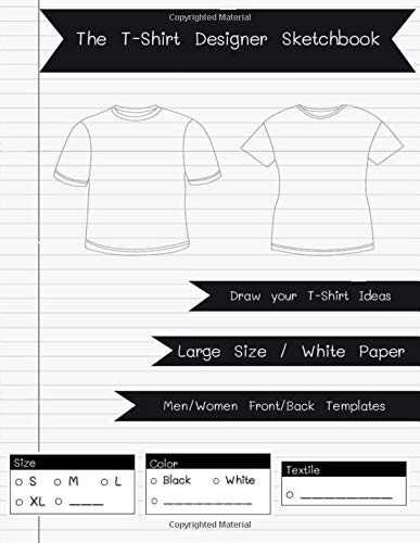 """The T-Shirt Designer Sketchbook: Men/Women Templates - 8.5"""" x 11"""" for sketch, draw and capture your ideas [Paperback] PPS, Ningarun"""