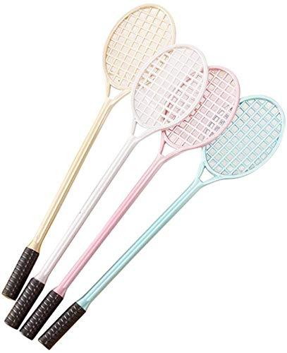 MoreLucky 4 x niedliche Tennisschläger-Stifte, kreatives Schreibwaren, Studenten-Geschenk, Schreibstift