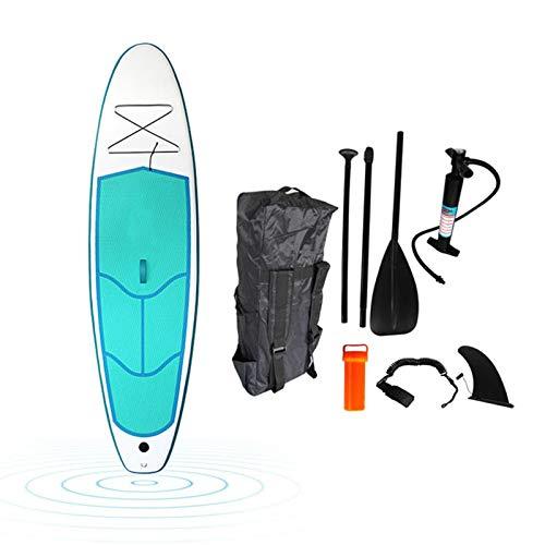 Tabla De Paddle Surf Hinchable,Unisex Tabla SUP Paddleboard Kit,Stand Up Paddle Board,10 CM De Espesor,Kayak,Almohadilla Integrada,Accesorios Completos,290 * 76 * 10cm
