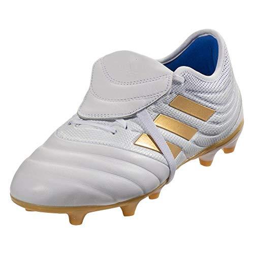adidas Copa Gloro 19.2 FG Soccer Cleats White/Gold Metallic/Football Blue (9.5)