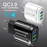 Fandazzie 1pc Cargador de Carga rápida para teléfonos móviles QC3.0-3USB Accesorios