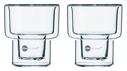 Jenaer Glas HOT'N COOL Becher Set, Glas, farblos, 6.9 x 6.9 x 7.7 cm, 2