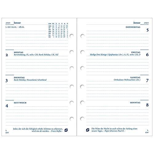Succes Senior Kalendereinlage 2021 1 Woche auf 2 Seiten Weiß Deutsch