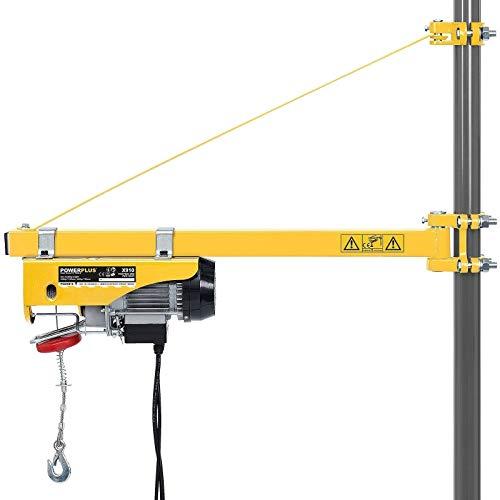 Yonntech Brazo de soporte para polipasto de 600 kg de capacidad de carga pivotante de 75 cm a 110 cm, brazo de apoyo eléctrico extensible