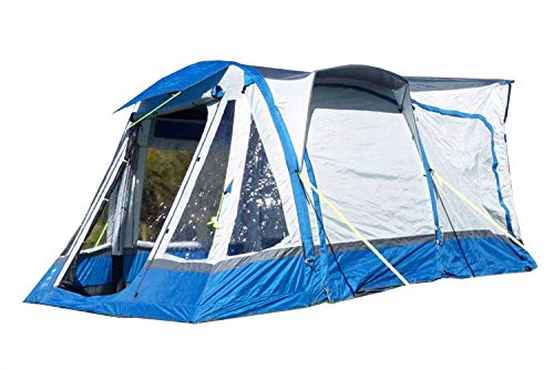 OLPRO Outdoor Leisure Products Loopo Breeze XL 3.9m x 3.1m Inflatable Drive Away Motorhome Awning Blue & Grey