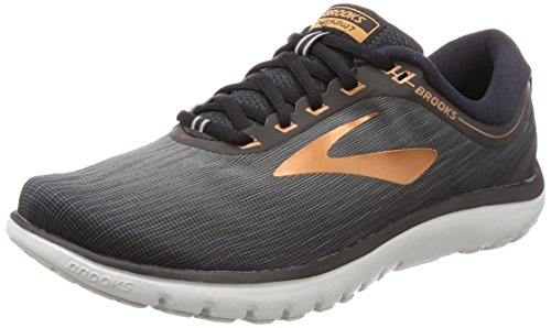 Brooks Mens PureFlow 7 - Grey/Black/Copper - D - 8.5