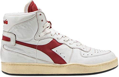 Diadora Heritage, Uomo, Mi Basket Used, Pelle, Sneakers, Marrone, 41 EU