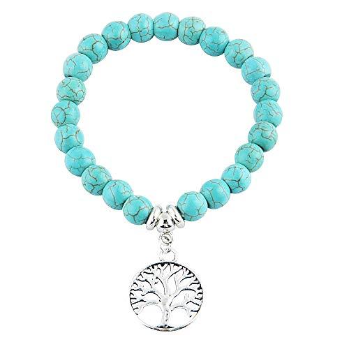Vrouw en man - man armband - tibetaans - armband - boeddhist - etnisch - hanger - boeddha - kerstmis - levensboom - zilver - origineel cadeau idee