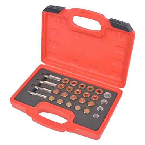 vidaXL Kit de Réparation de Bouchon Vidange d'Huile Outils à Main Garage