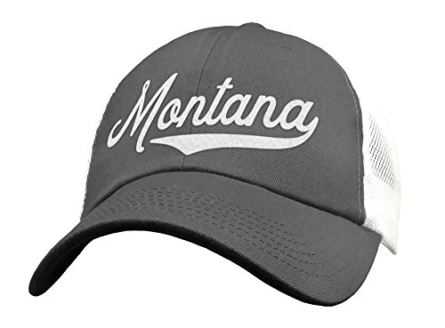 State of Montana Trucker Hat Baseball Cap - Snapback Mesh Low Profile Unstructured Sports - MT USA