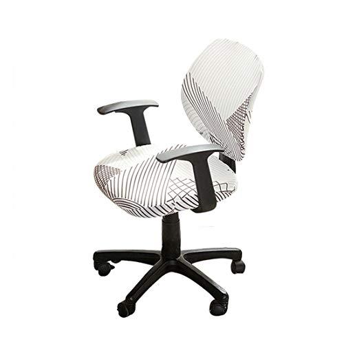 Facai Elastischer Bezug für Bürostuhl, Waschbarer Husse für Computerstuhl Drehstuhl, Gedruckt Stuhlbezüge für Schreibtischstuhl, Moderne Stuhlhussen für Büro #11