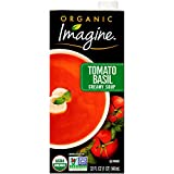 One 32 oz. carton of Imagine Organic Creamy Tomato Basil Soup Made with a blend of premium organic tomatoes and basil Dairy and gluten-free Certified Kosher and vegan Non-GMO Project Verified and USDA-Certified Organic