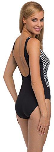 Feba Monokini Moldeador de Silueta Bañadores Trajes de Baño 1 Pieza Ropa Vestidos Playa Verano Mujer F33 (Patrón-303, EU 50 = ES (52))