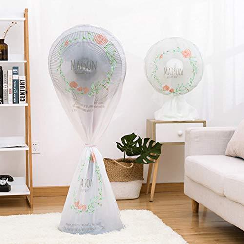 Sourcemall Cubierta protectora antipolvo para ventilador con cremallera, protector de ventilador eléctrico, paquete de 2 piezas (flor)