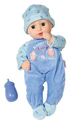 Zapf Creation 702963 Baby Annabell Little Alexander Puppe mit weichem Stoffkörper und Schlafaugen 36 cm, blau