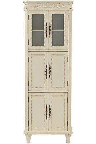 Home Decorators Collection Chelsea 6 Door Linen Bath Cabinet, 72' Hx25 Wx14 D, Antique White