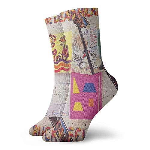 yantaiyu Calf Sock The Dead Milkmen Bucky Fellini Anime Cosplay Athletic Socks Compression Sox Breathable Women Birthday Men Unique Fashion Casual Gifts Novelty Sports ChristmasT