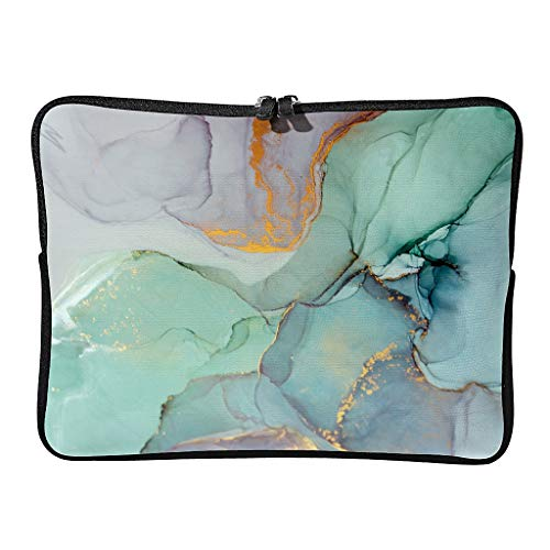 Standard Marble Texture Laptop Bags Waterproof Unique Modern Style Tablet Cover Suitable for School White 10 Zoll