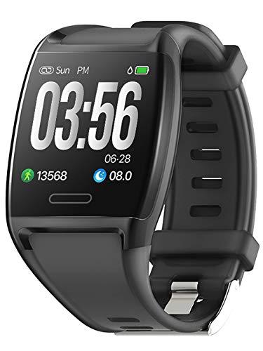Fitness Armband Aktivitätstracker Uhr Unisex Pulsmesser IP67 Wasserdicht Blutdruck Schrittzähler Schlafüberwachung Kalorienzähler Outdoor Smartwatch IOS Android Fitnessuhr Schwarz Weiß Rot