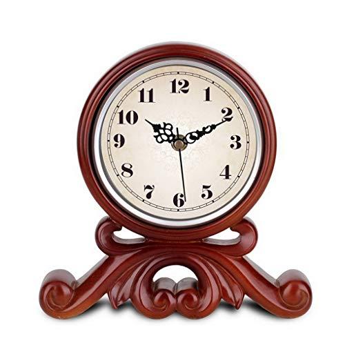 Eeayyygch Europäische Retro Mode Uhr Antike Wohnkultur Tischuhr Weinkühler Wohnzimmer Schlafzimmer Dekoration, Tischuhr (Farbe : -, Größe : -)