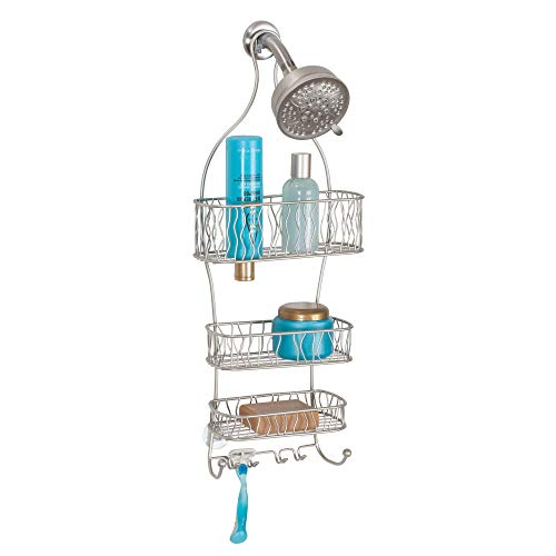 Learn More About InterDesign Squiggle Hanging Shower Caddy – Bathroom Storage Shelves for Shampoo,...