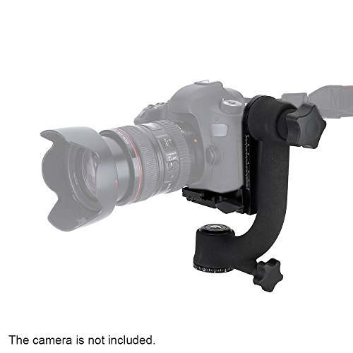 Andoer PRO 360-degree Panorama Gimbal Tripod Head Bird-Swing with Standard Quick Release Plate for Telephoto Lenses Canon Nikon Sony Heavy-Duty