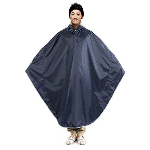 Poncho Erwachsene Casual Oversize Raincoat Einfarbig Mit Kapuze Regenjacke Jungen Hipster Wasserdicht Atmungsaktiv Outdoor Regencape Regenponcho (Color : B, Size : One Size)