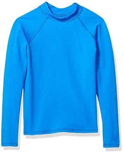 Amazon Essentials Long-Sleeve Rashguard Rash-Guard-Shirts, Azul, XS