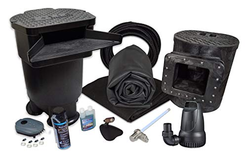 """HALF OFF PONDS - MDSUV6 - Savio Signature 4100 with UV Complete Water Garden and Pond Kit with Aeration System, Compact Skimmer, 22"""" Waterfall, 4,100 GPH Pump, 15 Foot x 20 Foot EPDM Liner"""
