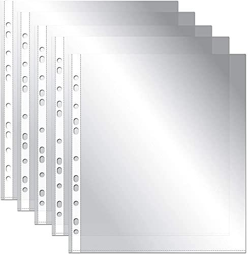 OFITURIA® Fundas Perforadas Multitaladro para Folios A4 Plástico Transparente de Polipropileno Piel de Naranja - 100 unidades
