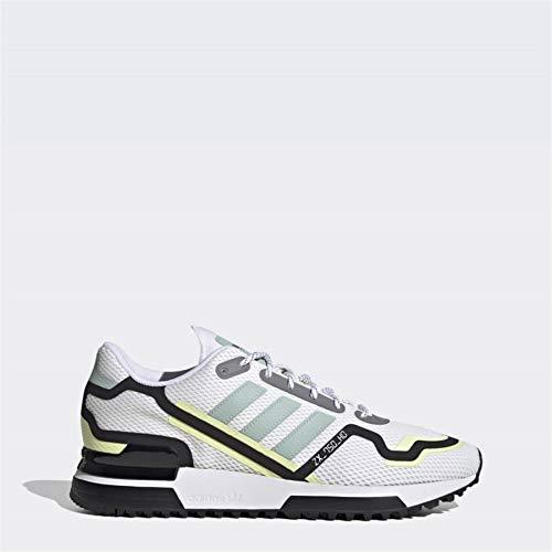 adidas Uomo ZX 750 HD Sneaker Footwear White Green Tint Core Black, 41 1/3