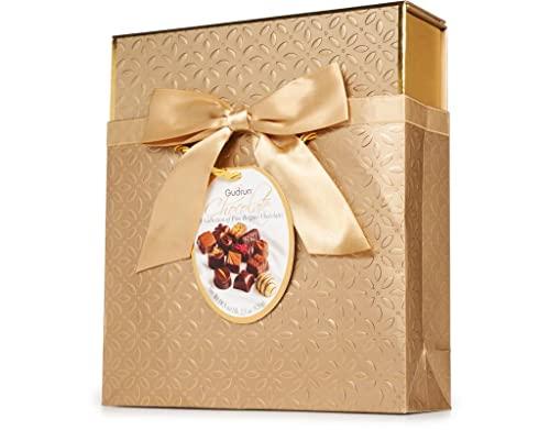 GUDRUN Belgian Luxury Chocolates 36 Piezas - En Caja y Bolsa Regalo de Lujo   Bombones de lujo   ideal para Cumpleaños, Aniversarios, Navidad, Amigo Invisible, Pascua o Dia del Padre o Madre