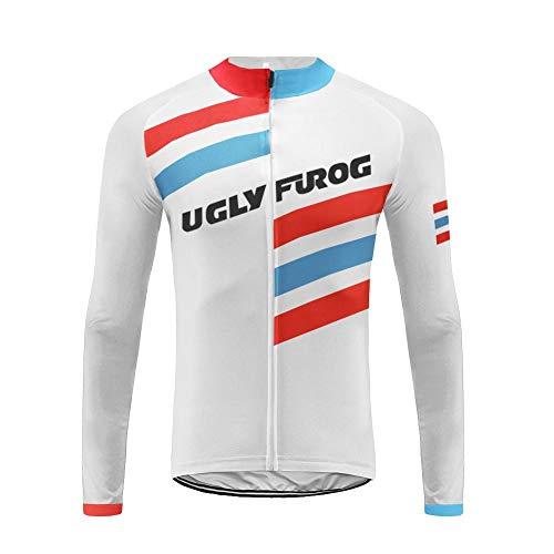 Uglyfrog Männer Radfahren Langarm Radfahren Jersey Winter with Fleece eine Menge Farben Antislip Ärmel Cuff Road Bike MTB Top Riding Shirt FLNL02F