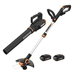 [BUNDLE & SAVE] If you bought these two powerful and easy to operate lawn tools separately, it would cost you way more. Plus, we threw in two batteries and a quick charger [TRIMMER & EDGER IN 1] Converts from a trimmer into an edger with just a pivot...