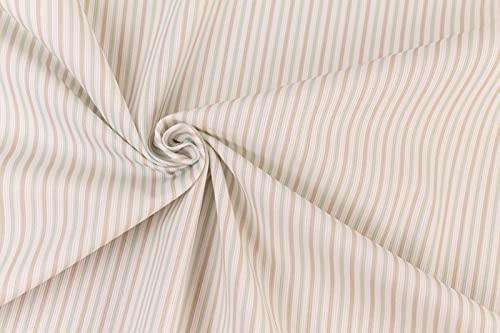 Generico Tejido piqué Millerighe por medio metro – 100% suave algodón – Altura 150 cm – Ideal para juego de niños y bebés – 1 unidad = 50 cm – Fantasías diferentes (rayas verde/marrón)