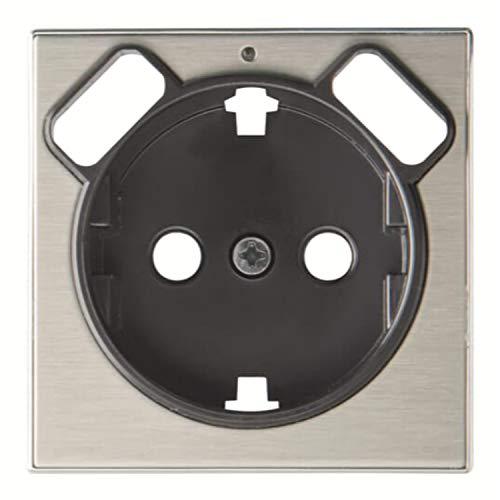 Placa de cubierta para toma de corriente Schuko, 5,4 x 1,5 x 5,4 centímetros, color aluminio (referencia: 8588.3 AI)