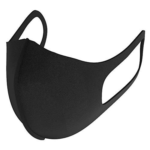 Zwarte mode unisex gezichtsmaskers, wasbare herbruikbare maskers, stofmaskers voor hardlopen, fietsen, kamperen, reizen {pakket van 3}