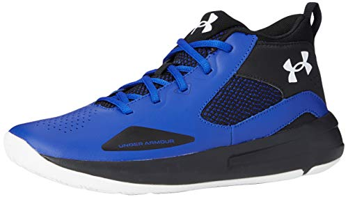 Under Armour Grade School Lockdown 5, Zapatillas de Baloncesto Unisex Adulto, Royal Negro Blanco 400, 39 EU