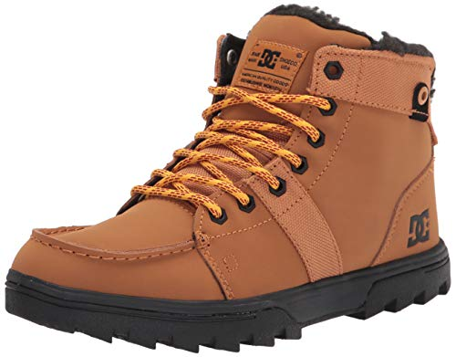 DC mens Cold Weather Casual Snow Boot, Wheat, 10 US